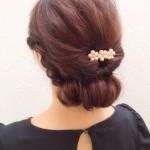 卒園式の簡単まとめ髪!自分でできるシニヨン風アレンジ