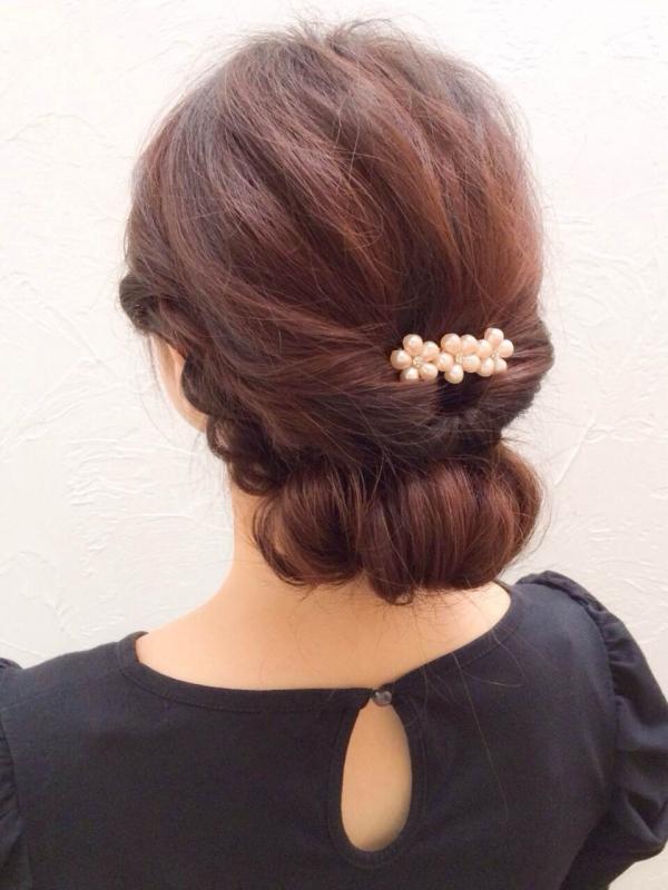 入園式・卒園式の簡単まとめ髪!自分でできるシニヨン風アレンジ